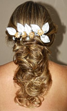 peinado para bodas recogido con flotes