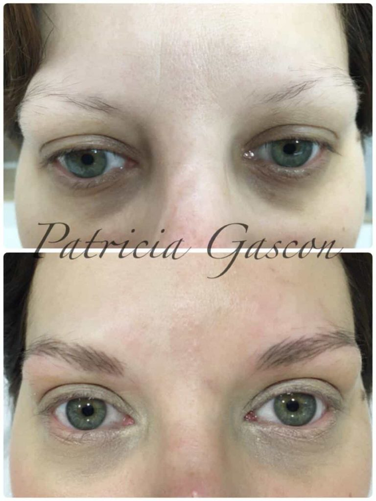 micropigmentación cejas antes despues ojos azules zaragoza